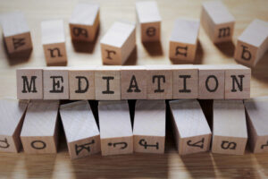 mediation written on wooden blocks