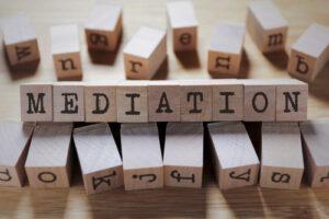 mediation written on wooden blocks